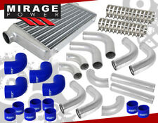 "Jdm Sport 3"" In/Out Intercooler +Polish Pipe Piping Kit + Silicone Coupler Hoses"