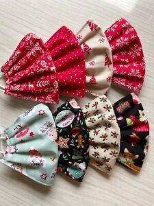 HOMEMADE/HANDMADE FACE MASKS - 100% Cotton Fabric - Cute XMAS COLOURS