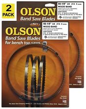 "Olson Band Saw Blades 56-1/8"" inch x 3/8"", 4TPI for Delta 28-180, 28-185, (2)"