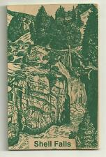 Wooden Postcard Big Horn National Forest Wyoming Shell Falls