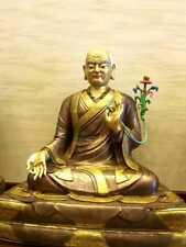 26'' Tibet Temple 5 Guru ancestors Of Sakya Lama Bronze Statue
