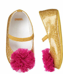 NWT Gymboree Bonjour Bebe Gold Crib Dress Shoes Baby Girl Infant 2,3