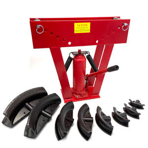 16 Ton Hydraulic Pipe Bending Machine Portable Pipe Bender with 8 Dies