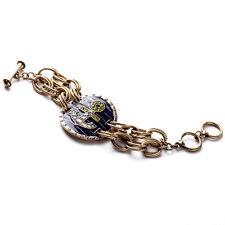 Bracelet Anchors Enamel Dark Blue Marine Retro Retro Vintage Marriage CT2