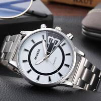 New Style Fashion Men's Design Stainless Steel Analog Alloy Quartz Wrist Watch