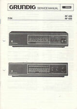 Grundig Service Anleitung Manual RF 425 RF 625   B999
