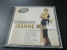 """CD """"LES PLUS GRANDS SUCCES DE JEANNE MAS"""" best of"""