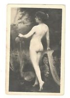 French nude butt Postcard vintage French Risque Real Photo Haired 1910