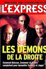L'EXPRESS n° 3357 du 11/11/2015* Les démons de la DROITE*FRAM:FAILLITE*IRAN*RARE