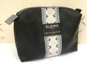 Elemis Large Hayley Menzies Black & White Stripe Patterened Lined Make Up Bag