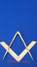 """Masonic Lodge Ceremonial accessories  Square and Compass Golden 4.5"""" For Bible"""