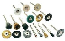Rotary Tool Cleaning Polishing Brush Kit 17 Pc Plastic Case Use with Dremel