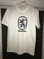Vtg 80s Lowenbrau Beer Single Stitch Crest Logo Thin Graphic T Shirt USA Made