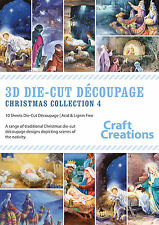Craft Creations 3D Die-Cut Decoupage - Christmas Collection 4 - Nativity Scenes