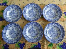ASSIETTE CREUSE PUBLICITAIRE BP FAIENCE DECOR CHAMPETRE le lot de 6
