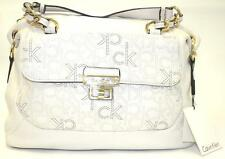 NWT Handbag Calvin Klein  H3ADW1AM  Handbag Satchel Modena Leather WHITE