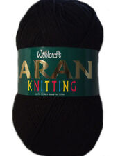 WOOLCRAFT 400grams Acrylic Aran Knitting Yarn - Various Colours Available Lilac 494 1ball