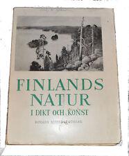 1947 FINLANDS NATUR Dikt och Konst Poems & Art