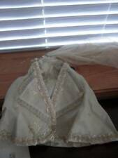 "Unmarked ~ Vintage Home Made Bridal Set for 18"" M.A. Cissy Doll"
