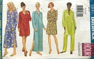 Butterick Misses'/Petite Nightshirt & Pants Pattern 5847 Size 20-24 UNCUT