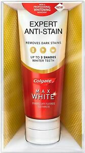 Colgate Max White Expert Complete Anti-Stain Whitening Toothpaste 75ml NEW & BOX