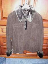 Ladies Dark Brown Suede Jacket. size 16.  Tags attached NEVER WORN !