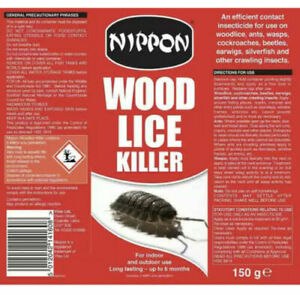Nippon Woodlice Wood Lice Killer Powder Insect 150g ** Free UK Shipping **