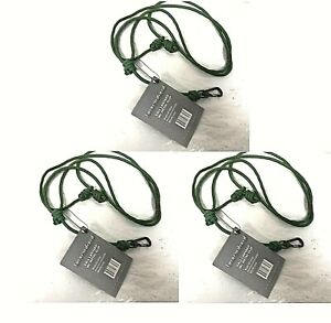 Lot of 3 Banded Tactical Waterfowl Gear Call Lanyard with Metal Clip - 0D_D1