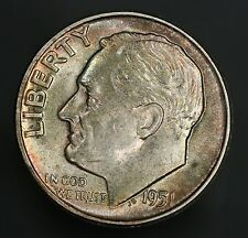 1951-P Roosevelt Dime Beautiful Coin And A Prime Example! GC618