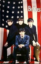 The Beatles in Amerika Blechschild Metal Tin Sign 3D geprägt gewölbt 20 x 30 cm