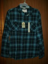 NEW MEN'S URBAN PIPELINE AWESOMELY SOFT FLANNEL SHIRT SZ 2XL BLUE OMBRE PLAID