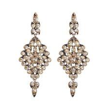 Rose & Peony British Fashion Statement Earrings Champagne Tassels Golden