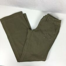 American Eagle Outfitters Womens Distressed Sequined Chino Pants Army Green Sz 6