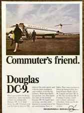 1968 McDonnell Douglas PRINT AD DC-9 Twinjet Commuter's Friend