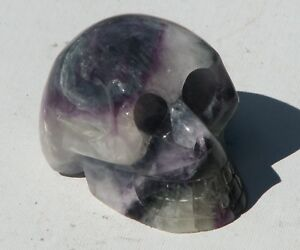 Large Carved Fluorite Crystal Skull Rare Collectable (FSK1)