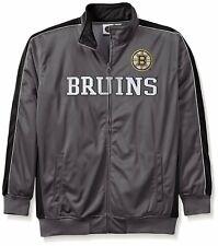 Nwt Profile Boston Bruins Reflective Full Zipper Track Nhl Jacket 2Xt 2Xl Xxl