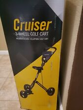 New Black Tour Trek Cruiser Premium Collapsible 3-Wheel Golf Push Cart