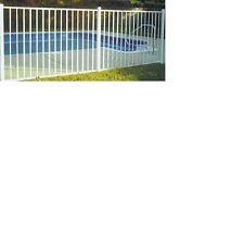 WHITE ALUMINUM  FENCE 4 ft x 6ft ASSEMBLED PANEL Pool Code