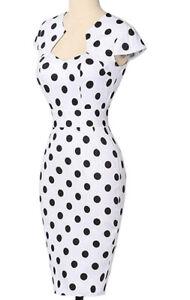 GRACE KARIN Women's 50s Vintage Pencil Dress Cap Sleeve Wiggle Dress NWT XL