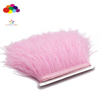 Pink Ostrich Feather Fringe Ribbon Trim Price for 10 meter DIY Craft Mask