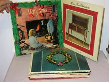 Lot 15 Vtg Christmas LP Records w Organ Chimes Bells Music Box Caton Page Daly
