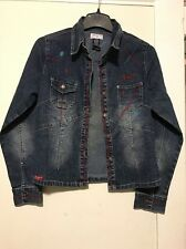 Paco Jeans Lightweight Stretch Jean Jacket Sz M Embroidered Pockets Buttondown