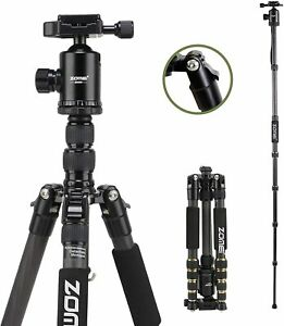 Zomei Camera Tripod Carbon Fibre Lightweight DSLR Monopod with Ball Head Z669C