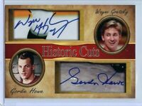 WAYNE GRETZKY & GORDIE HOWE - 2018 HISTORIC CUTS DUO AUTOGRAPH CARD - SHIPS FREE