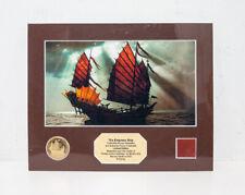 Pirates of The Caribbean Empress Ship Collectible Bronze Medallion Lithograph