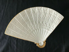 """Lenox Fan Shaped Plate with Gold Details 11"""""""