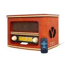 Retro Radio CD Player Old School Bluetooth MP3 CD Wooden USB Jack FM 60s 50s UK