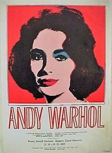 Andy Warhol Elisabeth Taylor for 89's European Exhibition poster