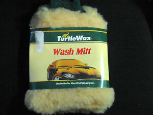 TURTLE WAX WOOLTEX WASH MITT   CLOTH MOP CAR AUTO DETAILING NEW , (**)