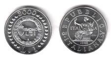 2000 Italia Lire 1 Argento Storia Della Lira Italia Seduta Fior di Conio Unc
